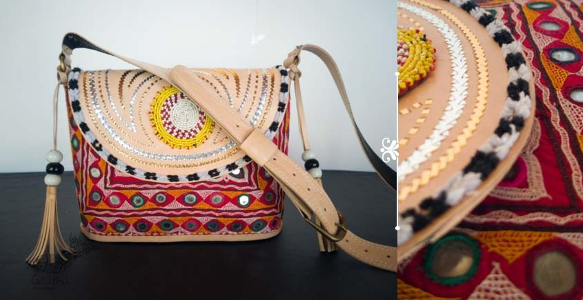 Tunes From the Duens ⌘ Leather Handbag With Kutchi Embroidery ⌘ 19