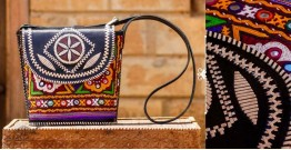 Tunes From the Duens ⌘  Leather Handbag With Kutchi Embroidery ⌘ 3
