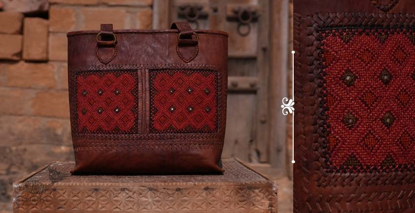 Tunes From the Duens ⌘  Leather Handbag With Jatt Embroidery ⌘ 9