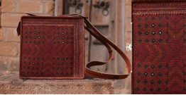 Tunes From the Duens ⌘  Leather Handbag With Jatt Embroidery ⌘ 10