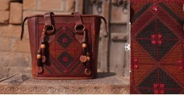 Tunes From the Duens ⌘  Leather Handbag With Jatt Embroidery ⌘ 13