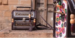 Tunes From the Duens ⌘  Leather Handbag With Kutchi Embroidery ⌘ 8