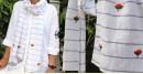 Oja |  Hand Embroidered Organic Cotton Stole ~ 12