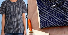 Oja | Dabu Printed Organic Dye T-shirt ~ L