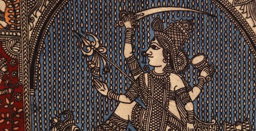 Sacred cloth of the Goddess - Aadhya Shakti Maa ( 15 X 18 )