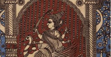 """Sacred cloth of the Goddess - Bhrahmani Maa ( 15"""" X 18"""" )"""