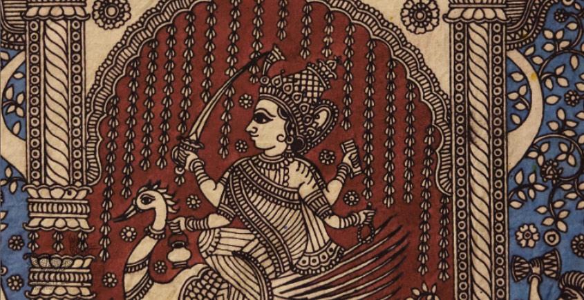 Sacred cloth of the Goddess - Bhrahmani Maa ( 15 X 18 )