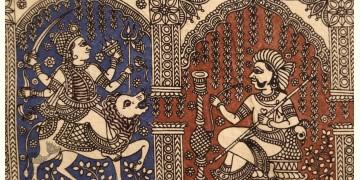 """Sacred cloth of the Goddess - Chamunda Maa ( 15"""" X 18"""" )"""