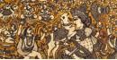 Sacred cloth of the Goddess - Durga Maa ( 15 X 18 )