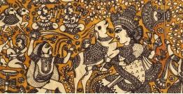"""Sacred cloth of the Goddess - Durga Maa ( 15"""" X 18"""" )"""