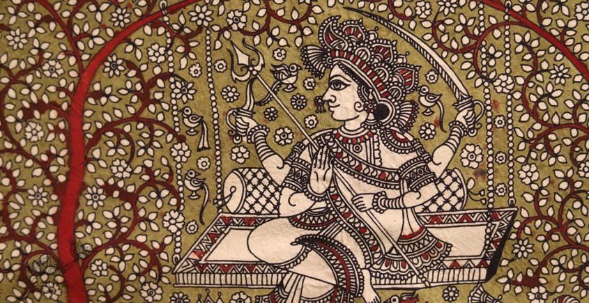 Sacred cloth of the Goddess - Hadaksha Maa ( 15 X 18 )