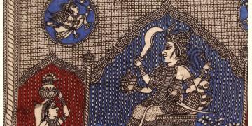 """Sacred cloth of the Goddess - Kaal Ratri ( 15"""" X 18"""" )"""