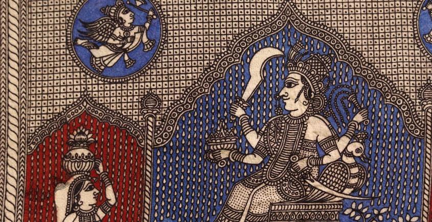 Sacred cloth of the Goddess - Kaal Ratri ( 15 X 18 )
