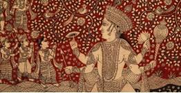 "Sacred cloth of the Goddess - Matsya Avtar ( 38"" X 29"")"
