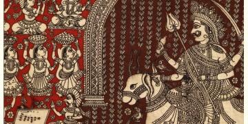 """Sacred cloth of the Goddess - Meldi Maa ( 28"""" X 21"""" )"""