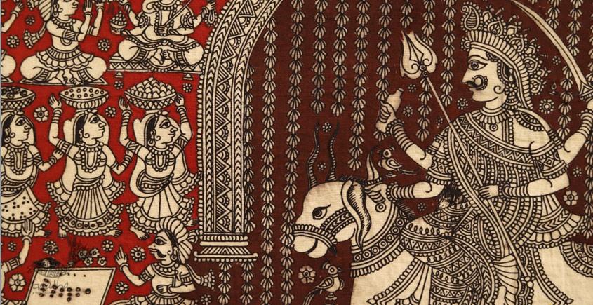 Sacred cloth of the Goddess - Meldi Maa ( 28 X 21 )
