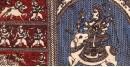 Sacred cloth of the Goddess - Meldi Maa -A ( 15 X 18 )