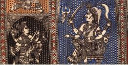 "Sacred cloth of the Goddess - Panch Avtar ( 15"" X 18"" )"