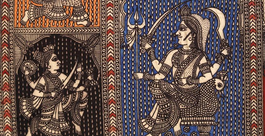 Sacred cloth of the Goddess - Panch Avtar ( 15 X 18 )