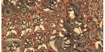 """Sacred cloth of the Goddess - Saraswati ( 15"""" X 18"""" )"""