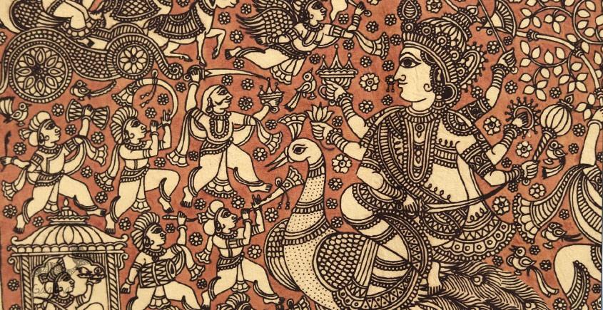 Sacred cloth of the Goddess - Saraswati ( 15 X 18 )