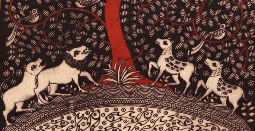 Sacred cloth of the Goddess - Tree of Life ( 15 X 18 )