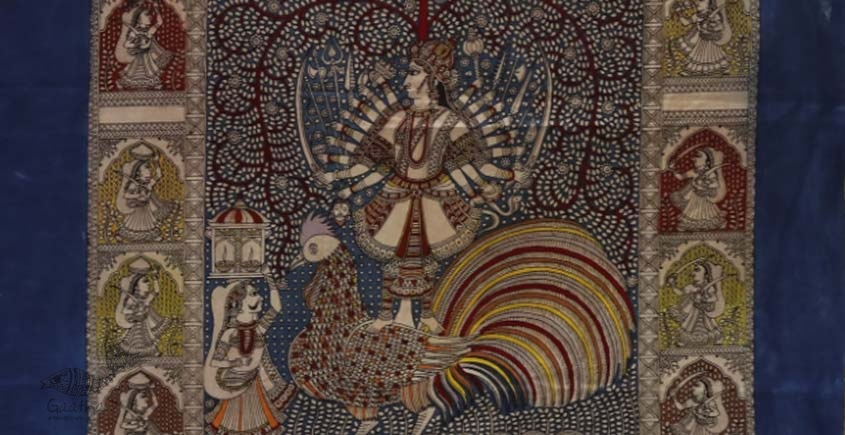 "shop online Sacred cloth of the Goddess - Bahuchar Maa (26"" x 36"")"