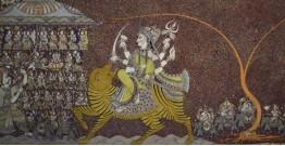 "Sacred cloth of the Goddess - Chandraghanta (36"" x 72"")"