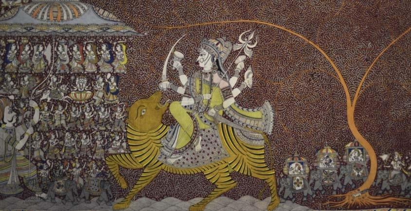 "shop online Sacred cloth of the Goddess - Chandraghanta (36"" x 72"")"