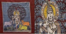 "Sacred cloth of the Goddess - Krishna (18"" x 24"")"
