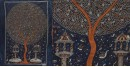 "shop online Sacred cloth of the Goddess - Moon Tree (26"" x 36"")"