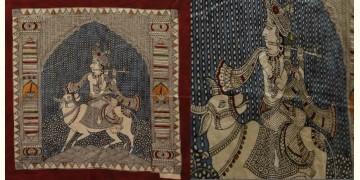 "Sacred cloth of the Goddess - Murlidhar (13"" x 13"")"