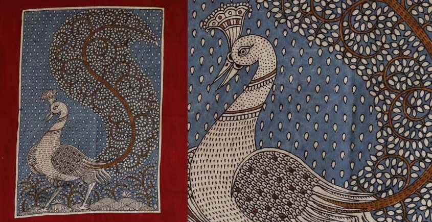 """shop online Sacred cloth of the Goddess - Peacock (18"""" x 20"""")"""