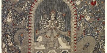"Sacred cloth of the Goddess - Vahaanvati Maa (26"" x 36"")"