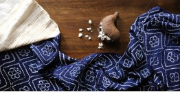 Ada . अदा   Hand loom Cotton . Tussar   Bandhni Stole - 4