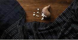 Ada . अदा | Hand loom Cotton . Tussar | Bandhni Stole - 5