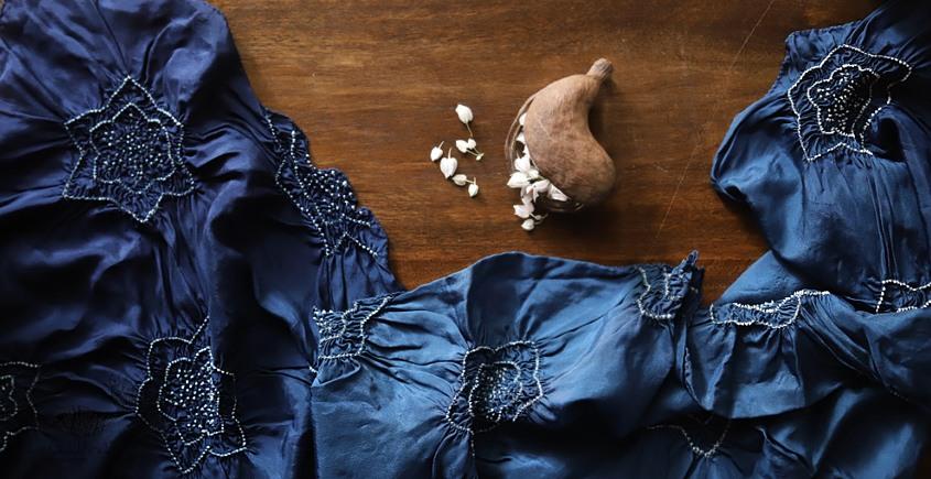 Ada . अदा | Bandhni Silk Stole - 14