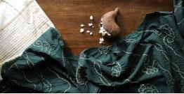 Ada . अदा | Hand loom Cotton . Tussar |Bandhani stole - 3