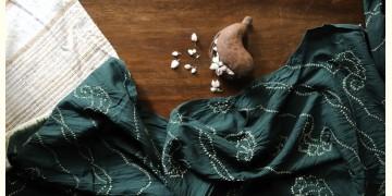 Ada . अदा   Hand loom Cotton . Tussar  Bandhani stole - 3