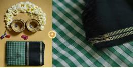 Iris ❢ Handloom  ❢ Cotton Checks Saree ❢ 15