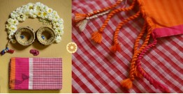 Iris ❢ Handloom  ❢ Cotton Checks Saree ❢ 14
