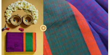 Iris ❢ Handloom  ❢ Cotton Checks Saree ❢ 17