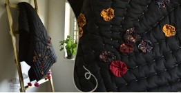 "Bird's Eye View ❣ Cotton - Applique & Embroidered Quilt ( 77"" x 48"") | L"
