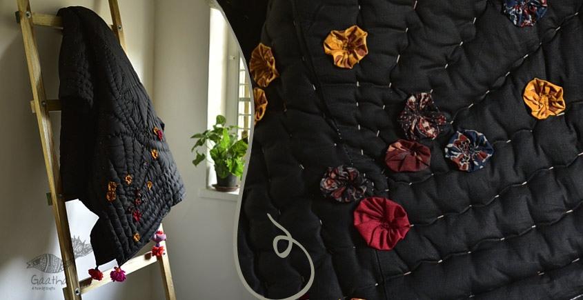 Birds Eye View ❣ Cotton - Applique & Embroidered Quilt ( 77 x 48)   L