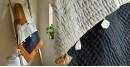 Birds Eye View ❣ Cotton - Applique & Embroidered Quilt (50 x 74)   E