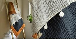 "Bird's Eye View ❣ Cotton - Applique & Embroidered Quilt (50"" x 74"") | E"