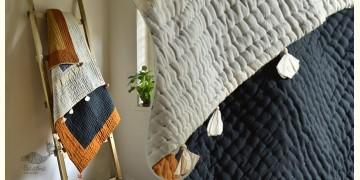 "Bird's Eye View ❣ Cotton - Applique & Embroidered Quilt (50"" x 74"")   E"