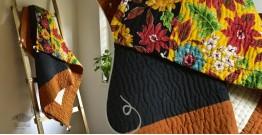 "Bird's Eye View ❣ Cotton - Embroidered Quilt (74"" x 51"") | H"