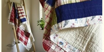 "Bird's Eye View ❣ Cotton - Embroidered Quilt (78"" x 52"")  F"
