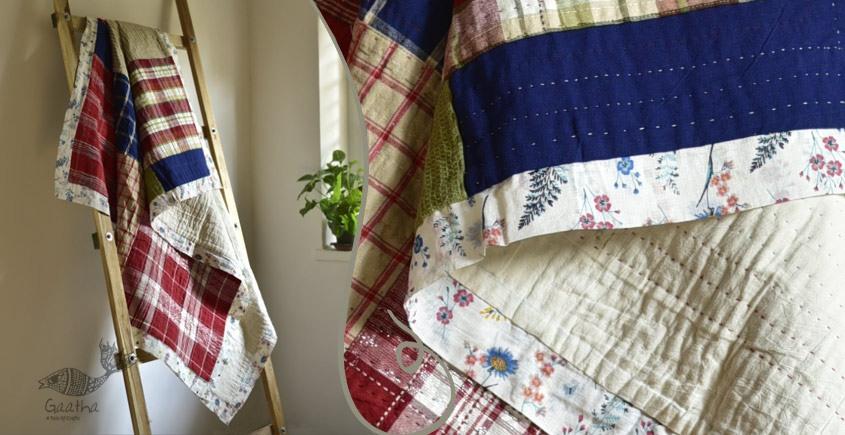 Birds Eye View ❣ Cotton - Embroidered Quilt (78 x 52)| F